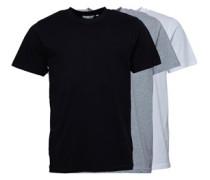 Basic Drei Pack T-Shirt Schwarz