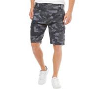 Herren Loke Cargo Shorts Blau Tarnfarbe