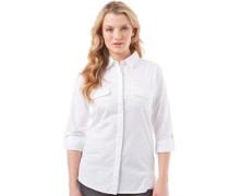 Damen Bluse Mit Langem Arm Weiß