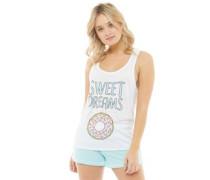 Damen Sweet Dreams Pyjama Weiß