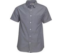 Oxford Hemd mit kurzem Arm Grau