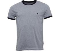 Herren FCUK Ringer T-Shirt Grau