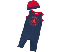 Infant Muscle Onesie With Hat Navy