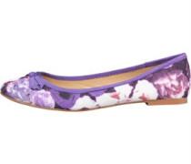 Lotus Damen Carlene Ballet Floral Schuhe Lila