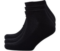 Herren Trainer Liners Socken Black