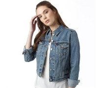 Damen Authentic Trucker Denim Jacke Blau