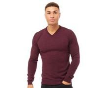 Quazar wear Pullover mit V-Ausschnitt Burgundermeliert
