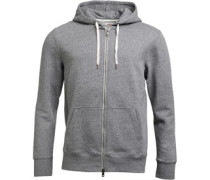 Mens Original Zip Up Hoody Mid Grey Heather