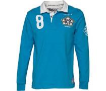 Herren Valiant Rugby Polohemd Blau