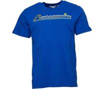 Druck Wave Line T-Shirt Königs
