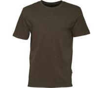 Herren North Seam Detail Pique T-Shirt Khaki