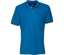 Herren 2B Pique Polohemd Blau
