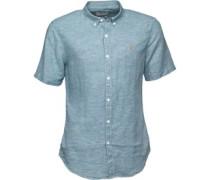 Herren Telford Hemd mit kurzem Arm Blau