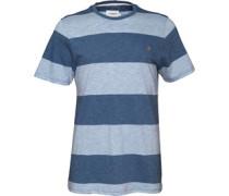 Farah Vintage Herren Burton y T-Shirt Gestreift