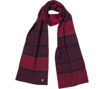 Lyle And Scott Vintage Mens Fairisle Scarf Deep Indigo