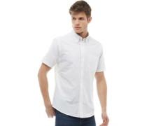 Oxford Hemd mit kurzem Arm Weiß