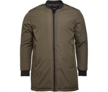 Brave Soul Herren Haven Longline Harrington Jacke Khaki