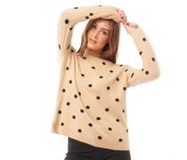 Pullover mit Rundhalsausschnitt Beige