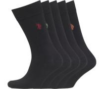 Fünf Pack Socken Schwarz