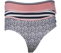 Damen 3 Pack Brazillian Unterhosen Mehrfarbig