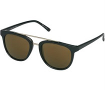 Pieces Damen Tina Gold Colour Sonnenbrille Schwarz