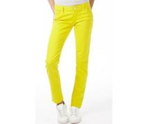 Damen Jeans in Slim Passform Vivid Yellow