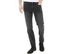 Herren Denim Jeans mit geradem Bein Anthrazit