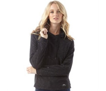 Damen Katniss Fleece Schwarzmeliert