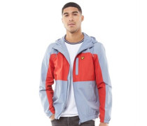 Colour Block Jacke Hellblau