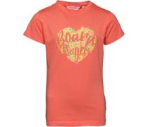 Mädchen Heart T-Shirt Korallenrot