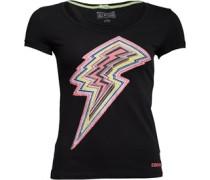 Damen Local 9 From Us Journey Graphic T-Shirt Schwarz