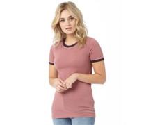 Damen Retro T-Shirt Rosameliert