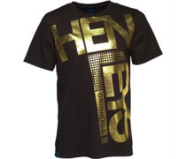 Henleys Herren Fleek Gold T-Shirt Schwarz