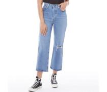 Ribcage Capri Jeans Verblasstes Mittel