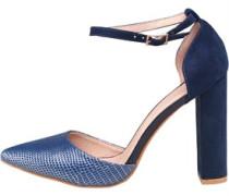 AX Paris Womens Kennedy Block Heel Shoes Navy