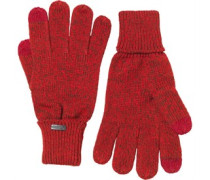 Firetrap Herren Twist Yam Touch Screen Handschuhe Rot