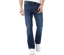 Herren Basicon Jeans mit geradem Bein Denimmeliert Blau