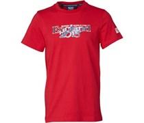 Canterbury Jungen England 215 Script Flag T-Shirt Rot