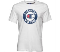 Herren Grafik Logo T-Shirt Weiß