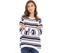 Damen Pullover mit Rundhalsausschnitt Weiß