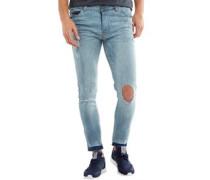Herren Taylor Skinny Jeans Leicht Steinwasch