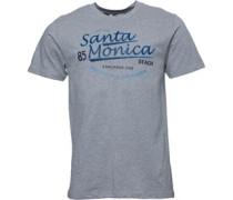 Santa Monica Druck T-Shirt meliert