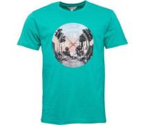 Herren Surf T-Shirt Grün