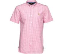 Lyle And Scott Vintage Mens Gingham Check Shirt Summer Pink