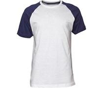 Herren Raglan Optic T-Shirt Weiß