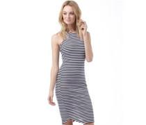 Superdry Womens Sheer Rib Racer Dress Navy/White