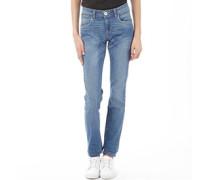 adidas Neo Damen Skinny Jeans Mittelblau