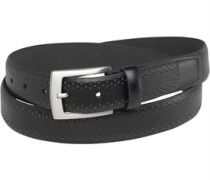 Ben Sherman Mens Formal Punch Edge Belt Black