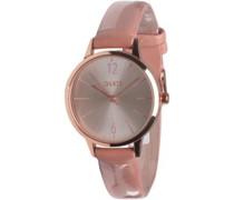 Damen Strap Armbanduhr Rosa-Gold