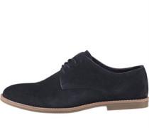Herren Suede Derby Schuhe Navy